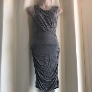Diane Von Furstenberg Heather Gray Rouched Dress